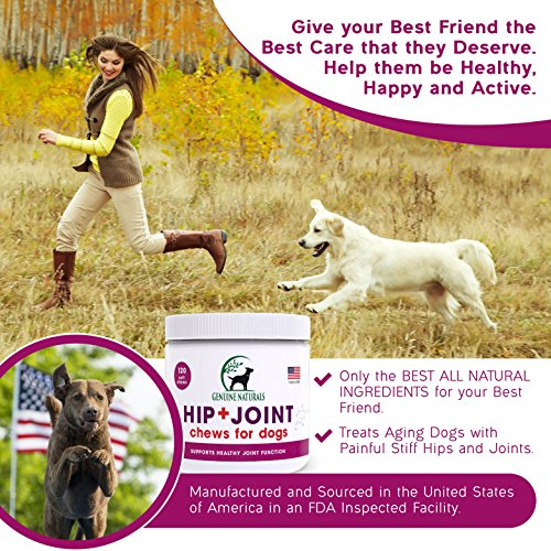Genuine Naturals™ Glucosamine Chondroitin, MSM, Organic Turmeric Soft Chews by, Hip and Joint Supplement for Dogs, Supports Healthy Joint Function and Helps With Pain Relief, 120-Count by Genuine NaturalsTM (Image #4)
