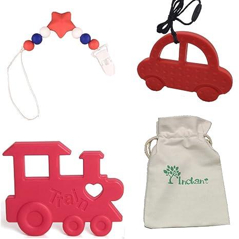 INCHANT forma de bebé juguetes para la dentición de coches y ...