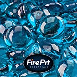 Tahitian Blue - Fire Glass Beads for Indoor and Outdoor Fire Pits or Fireplaces | 10 Pounds | 1/2 Inch