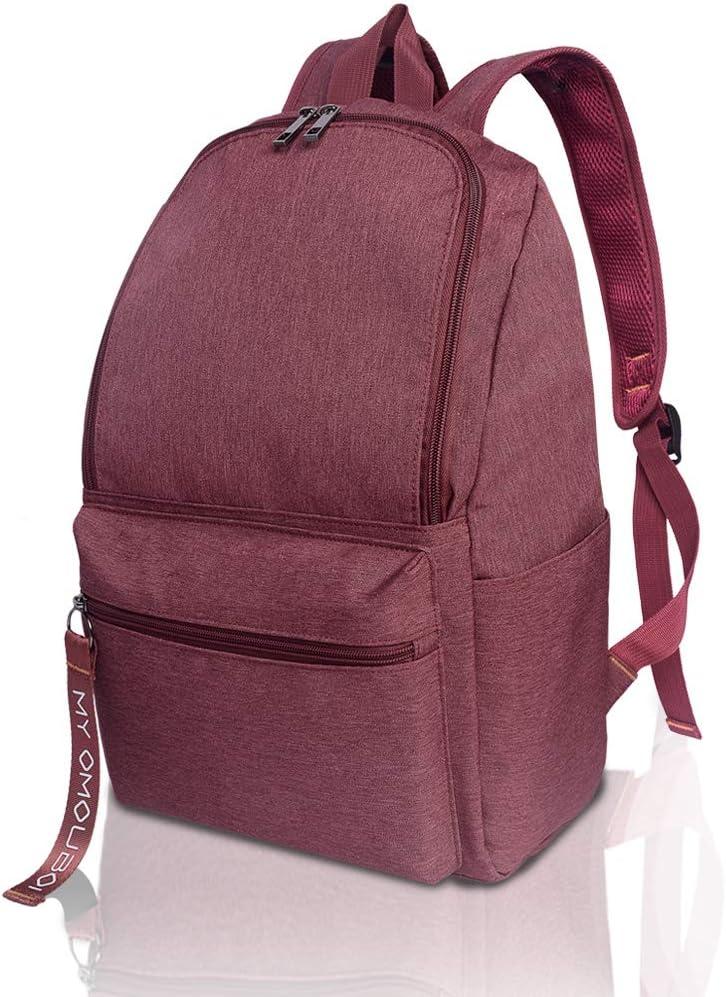 Backpack for Women, OMOUBOI 14 Inch Waterproof Laptop School Bag Travel - Red
