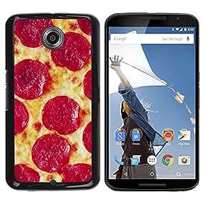 iKiki Tech / Estuche rígido - Pepperoni Italian New York Food - Motorola NEXUS 6 / X / Moto X Pro