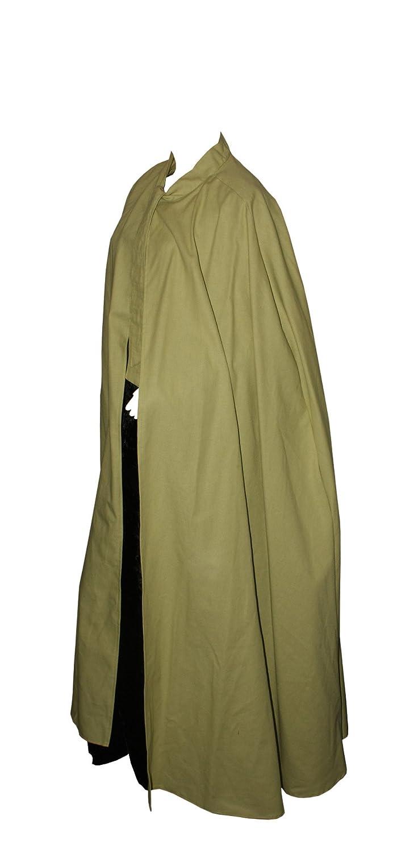 Kreativwunderwelt Umhang aus schwerer Baumwolle - 160cm - lindgrün - ohne Kapuze