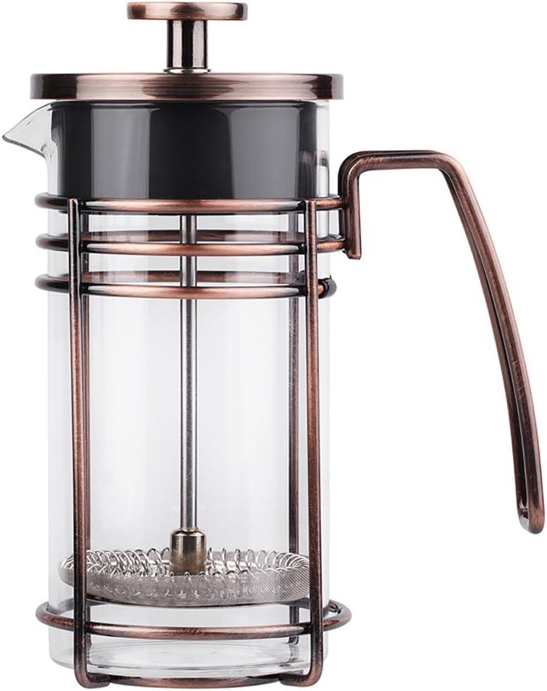 ZaKura Cafetera de prensa francesa, 3 tazas, cafetera de té, 350 ml/12 oz, bronce.: Amazon.es: Hogar