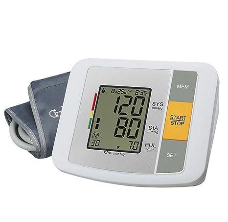 D&F TensióMetro De Brazo - Voz Inteligente LCD Ajustable Brazalete Del CorazóN Y El Detector De