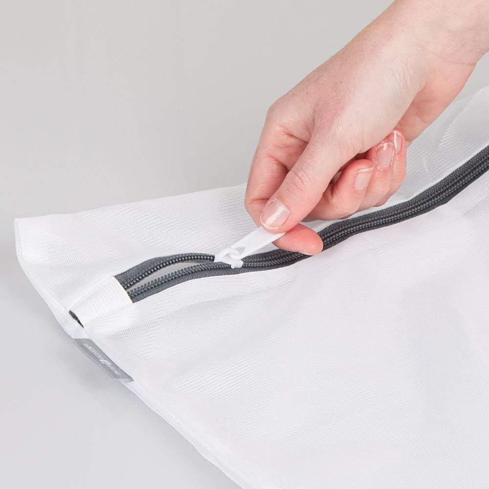 v/êtements de Machine /à Laver d/élicat sous-v/êtements Pliable Soutien-Gorge 50 * 60 cm Chaussettes FinukGo Sac /à Linge zipp/é en Filet Blanc Protecteur