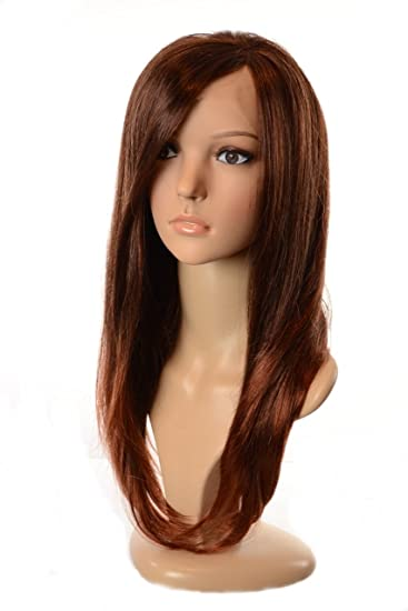 Amazoncom Brown And Copper Ombre Silky Straight Long Lace Front