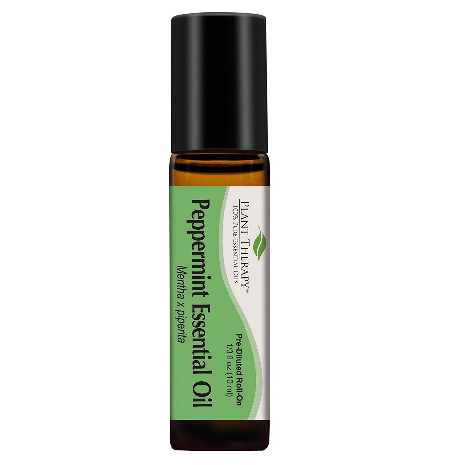Plant Therapy Peppermint Essential Oil 100% Pure, Pre-Diluted Roll-On, Natural Aromatherapy, Therapeutic Grade 10 mL (1/3 oz)