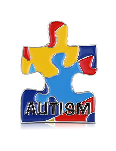 Amazon Cmajor Autism Awarness Puzzle Piece Enamel Lapel Pin
