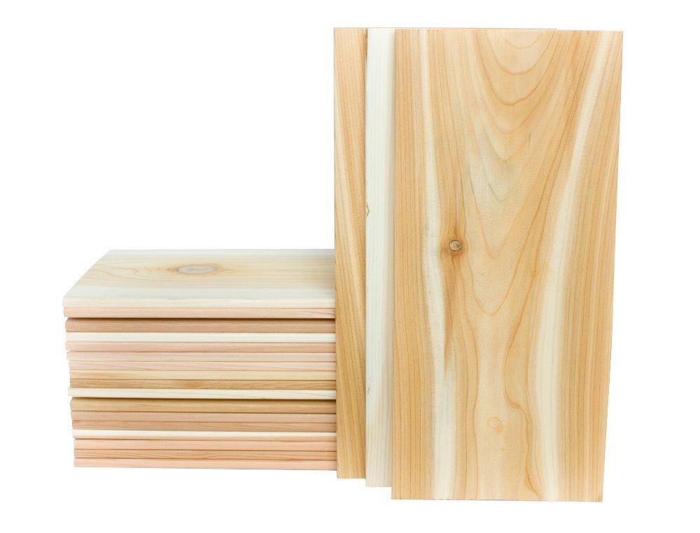 XL Large Cedar Grilling Planks (20 Pack) - 7x15'' - Fits Full Filet of Salmon + Free Recipe eBook