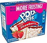 Pop-Tarts Breakfast Toaster Pastries, Frosted Strawberry Flavored, 22 oz (12 Count)(Pack of 12)