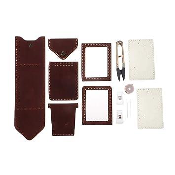 Baoblaze Kit de Billetera Cuero Costura Material para ...