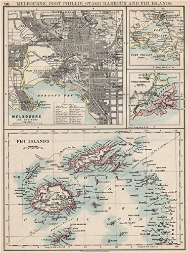 Amazoncom AUSTRALASIA Melbourne Plan Fiji VitiVanua Levu Otago - Vintage maps melbourne