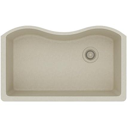 Elkay Quartz Classic ELGUS3322RBQ0 Bisque Single Bowl Undermount Sink