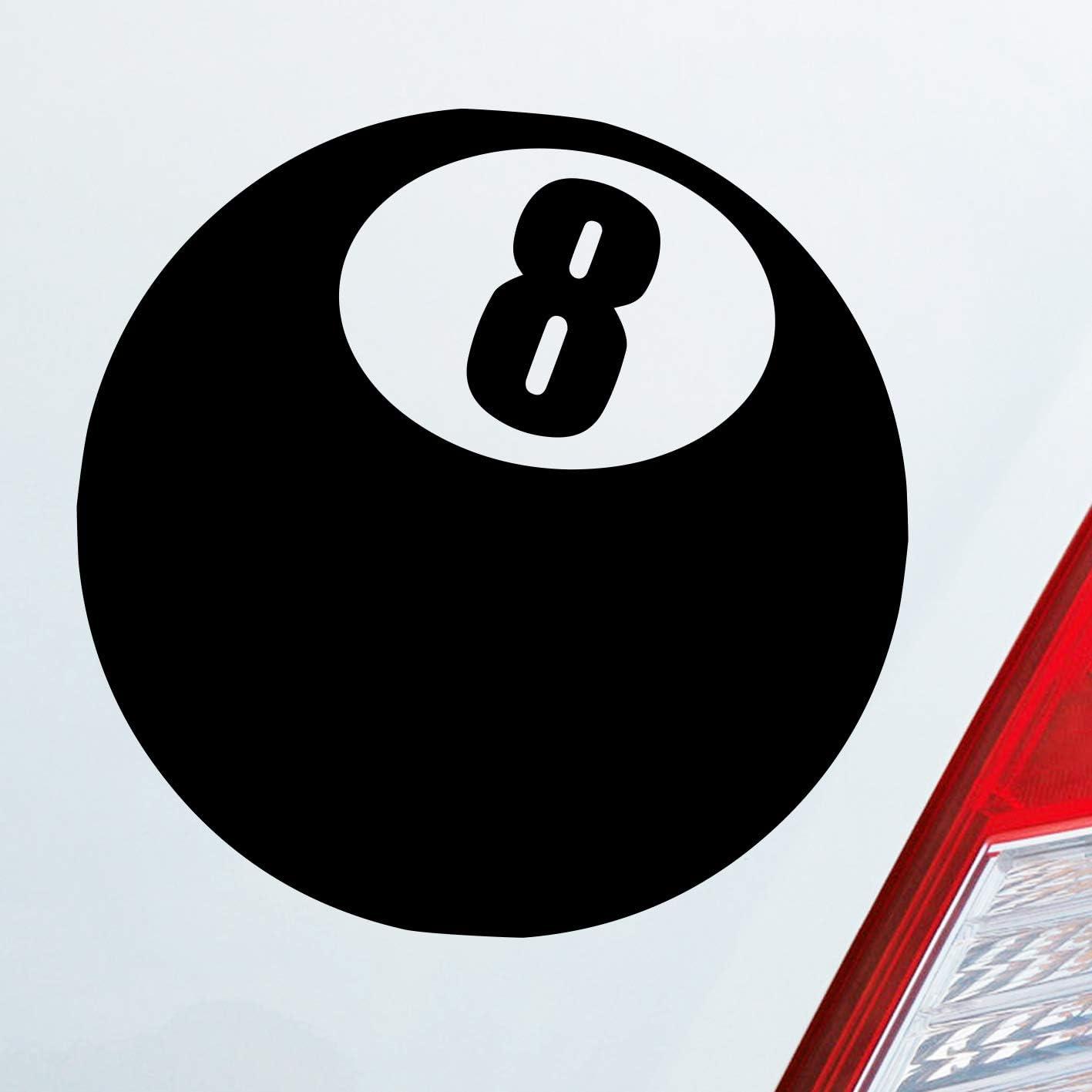 Auto Adhesivo en tu deseos Color Bola Bola de billar número 8 Negra Ocho 10 x 10 cm Auto decorativo para pantalla: Amazon.es: Coche y moto