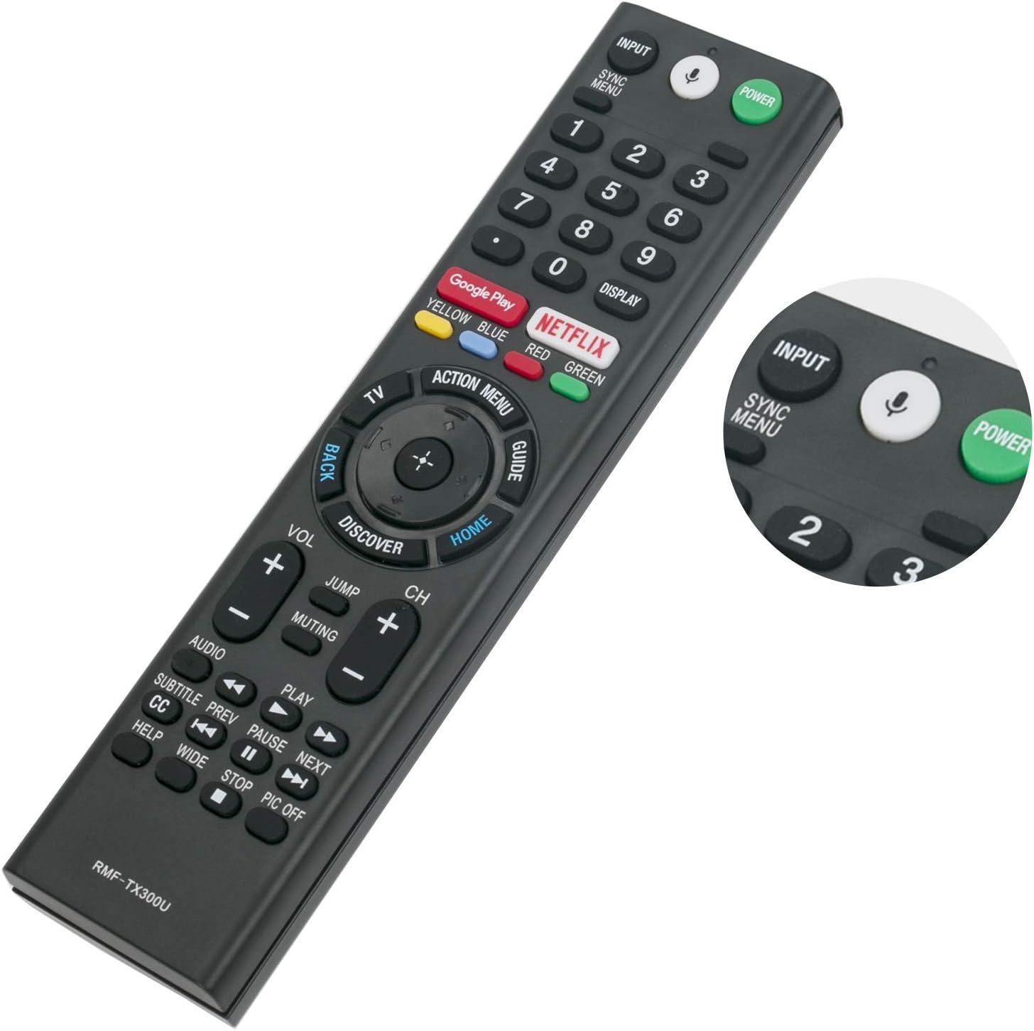 RMF-TX300U - Mando a Distancia con micrófono para Sony 4K Smart LED TV HDTV XBR43X800E XBR-43X800E XBR49X800E XBR-49X800E XBR55X800E XBR-55X800E XBR55X806E XBR-55X806E XBR65X850E XBR-65X850E: Amazon.es: Electrónica