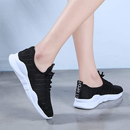 Lightweight Non Slip Breathable Mesh Sneakers Spor Womens Running Tennis Shoes