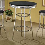 Cleveland 50's Soda Fountain Bar Table Black and Chrome Review