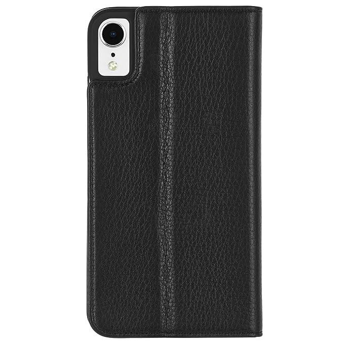 leather iphone xr folio case