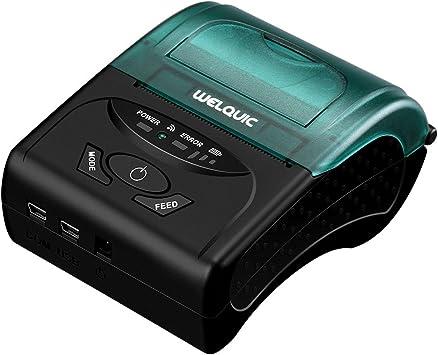 WELQUIC Impresora Térmica del Recibo del USB de 58 mm, de Alta ...