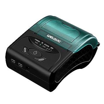 WELQUIC Impresora Térmica del Recibo del USB de 58 mm, de Alta Velocidad, Compatible con los Sistemas de Android & iOS & Windows & Linux y Los ...