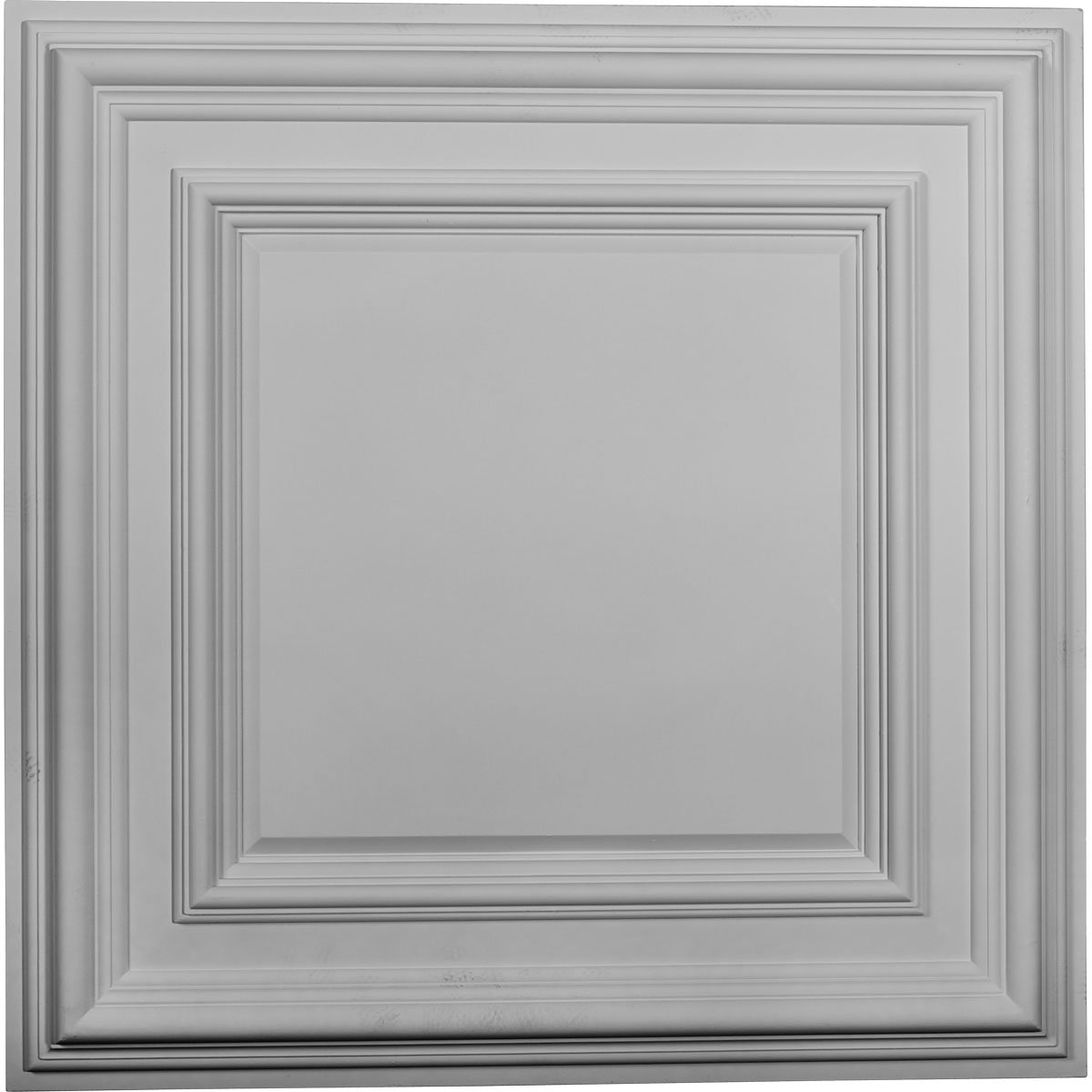 Ekena Millwork CT24CL 23 3/4-Inch OD x 1 5/8-Inch P Classic Square Ceiling Medallion