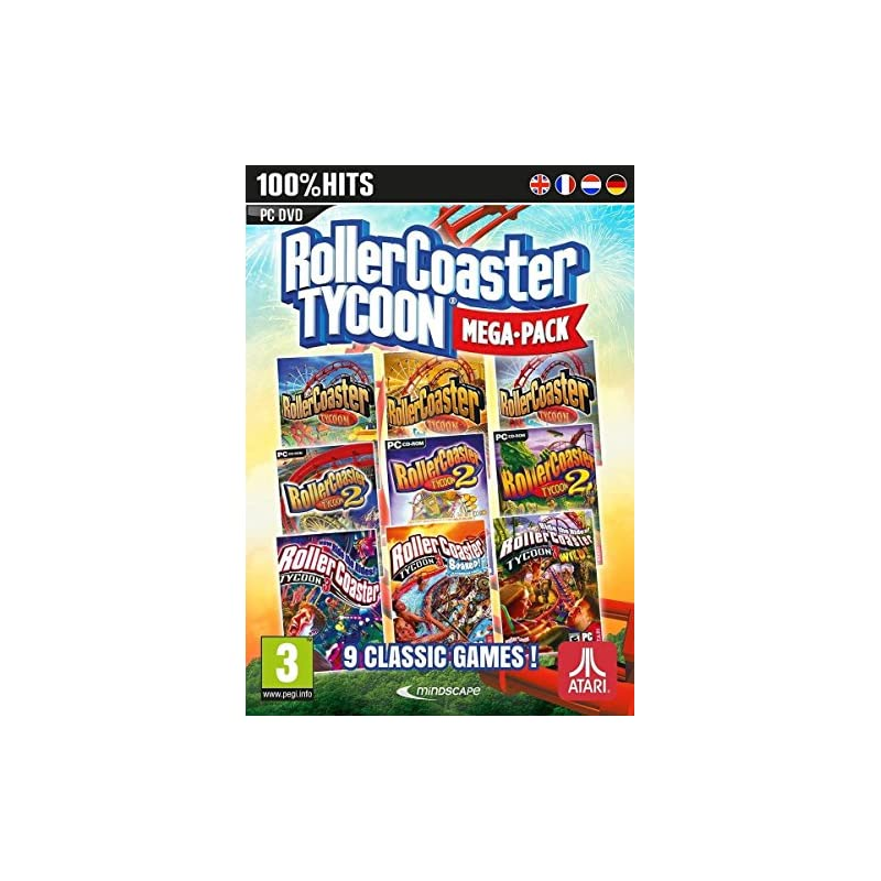 Rollercoaster Tycoon 9 Game Megapack (PC