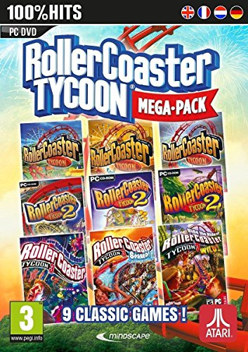 Rollercoaster Tycoon 9 Game Megapack (PC DVD) (Best Roller Coaster Tycoon Game)