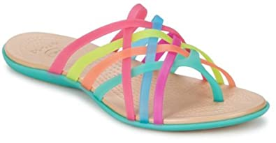 39eb9b5bbaff Genuine Crocs Women s Huarache Flip Flop Multi Geranium Sandal (6 ...