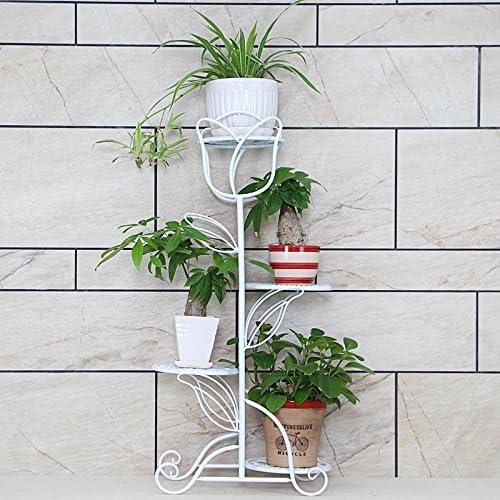 Macetero en forma de escalera de 4 niveles, metal, para interior, de varios pisos, alto x ancho x profundidad: 90 x 21 x 40 cm, Weiß: Amazon.es: Jardín