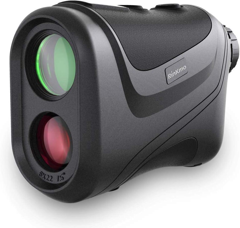 RINKMO Golf Range Finders with Slope,Laser Rangefinder for Golf with Flag-Lock, 1100 Yards Range,6X Magnification with FMC Lens,Distance/Angle Measurement