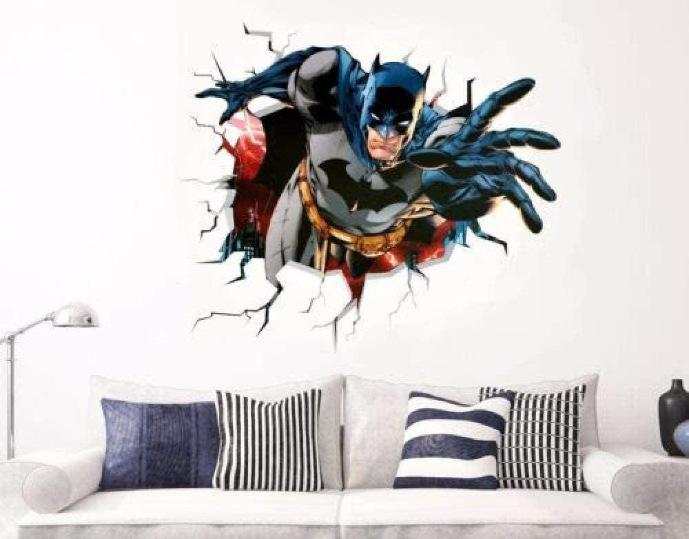 3D Pegatinas de pared Adhesivos de pared Batman Adhesivos de pared Adhesivos de pared Vinilo Decoración Vinilos para puertas y ventanas Arte Cartel familiar Mural 3D