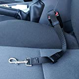 Universal Adjustable Pet Car Seat Belt [Black] Keep Your Dog Safely Restrained While Driving!