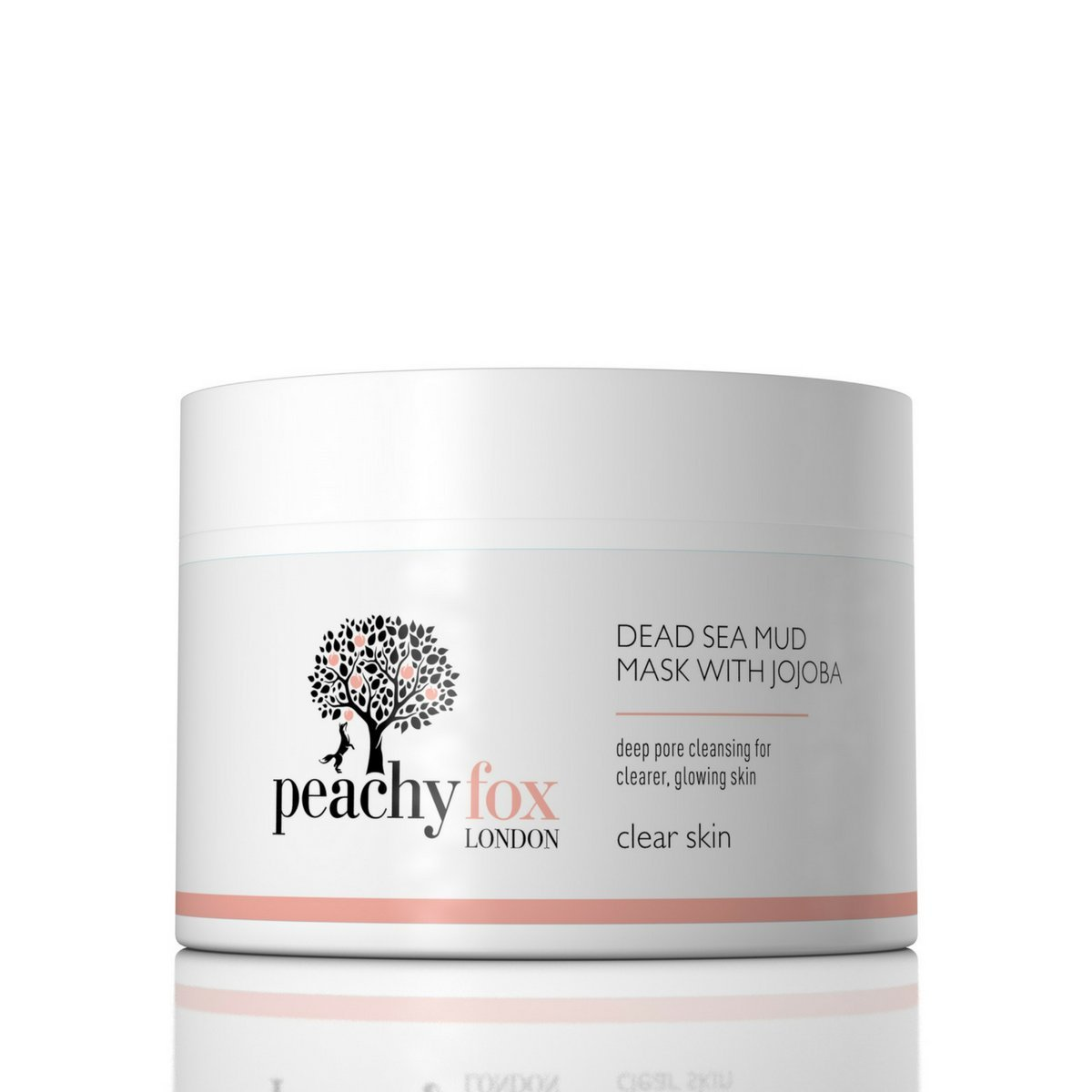 Dead Sea Mud anti-aging facial Mask with added Jojoba - Helps prevent breakouts & spots. Leaves your skin clean & clear with a healthy glow. Made in the UK, 30 day money back guarantee! Peachy Fox