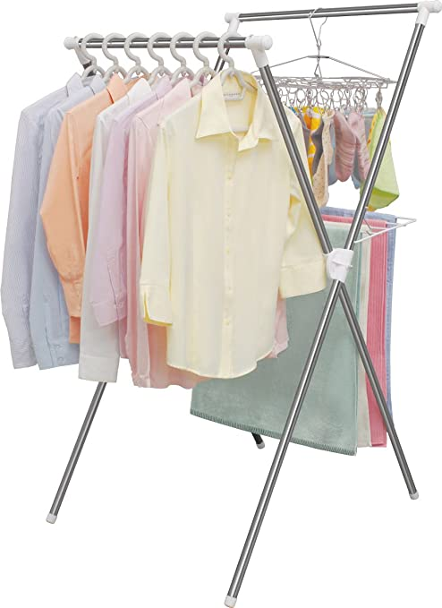 Amazon.co.jp : アイリスオーヤマ 洗濯物干し 簡単組み立て 室内物干し ...