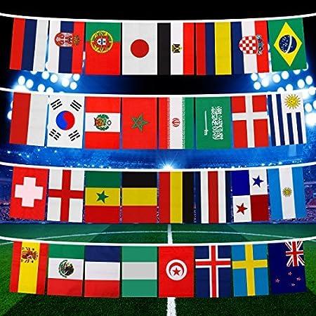 Isuper 2018 - Bandera de la Copa del Mundo con 32 equipos, diseño ...