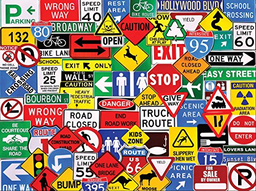 White Mountain Puzzles Road Signs - 550 Piece Jigsaw Puzzle