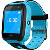 Kids GPS Tracker Watch,LAYOPO Waterproof Kids Smart Watch With 1.44 Inch Touch Screen/Call/GPS/Activity Tracking/Game/HD Camera, Tracker SmartWatch Phone For Kids Birthday Great Gifts