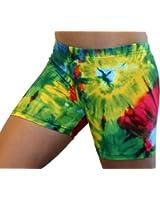 """GemGear Tie Dye Print 4"""" Inseam Compression Shorts"""