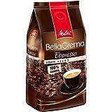 Melitta Ganze Kaffeebohnen, 100% Arabica, reiches Aroma, intensiv-würziger Geschmack, kräftiger Röstgrad, Stärke 4 bis 5, BellaCrema Espresso, 1000g