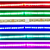 TronicsPros 10pcs 4 Pin Solderless Waterproof LED