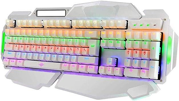 LMDH El Teclado retroiluminado con Cable Gaming Keyboard LED ...