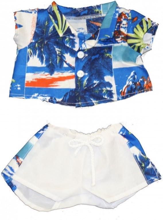 20060-Hawaiian Shirt & Shorts Clothes for 14