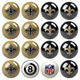Officially Licensed New Orleans Saints Football Billiard Pool Cue Ball Set
