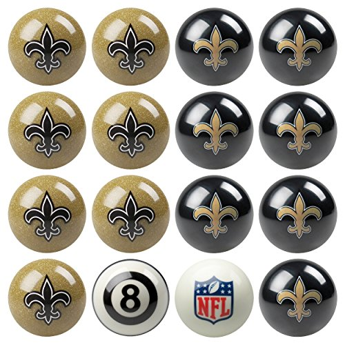 Officially Licensed New Orleans Saints Football Billiard Pool Cue Ball (New Orleans Saints Cue Stick)