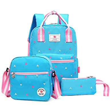 SPLHMILY 3 in 1 school backpack book bag for girls teen kids + shoulder bags +