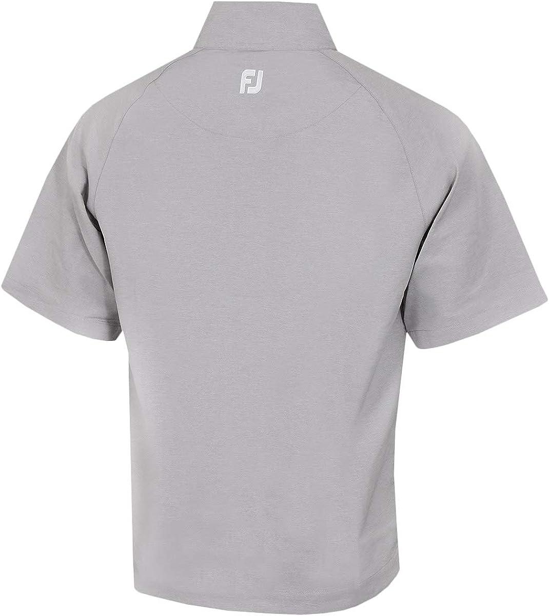 Footjoy Men's Fj Performace Half - Zip Short Sleeve T-Shirt Multi-coloured (Grey / White)
