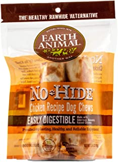 product image for Earth Animal Small No-Hide Dog Chews - Made in the USA, Natural Rawhide Alternative Treats (Chicken, Small - 2 Chews)