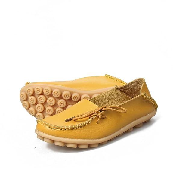 letter,Mujer Plano Zapatos Carta Suave Con cordones Casual Chícharos Antideslizante Al aire libre Zapatos (40, Naranja)