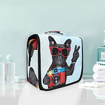 bbafdd9caed2 Mr.XZY Hanging Makeup Bags Black Dog Camera ... - Amazon.com
