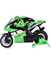 Kids RC Motorcycle RC Off-road Racing Motor Bike with USB Cable(Green)